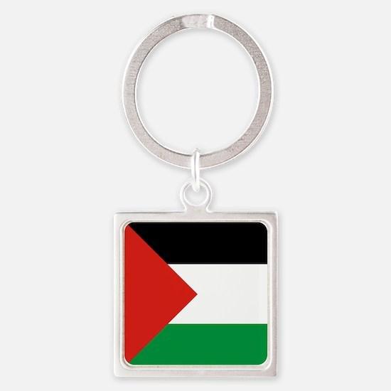 Square Palestinian Flag Keychains