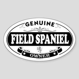 FIELD SPANIEL Oval Sticker