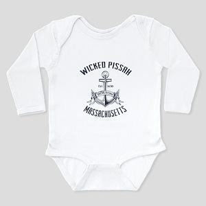 Wicked Pissah, Boston Long Sleeve Infant Bodysuit