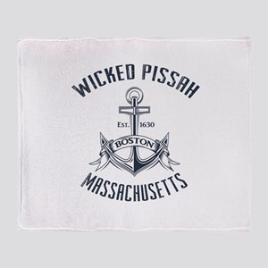 Wicked Pissah, Boston MA Throw Blanket