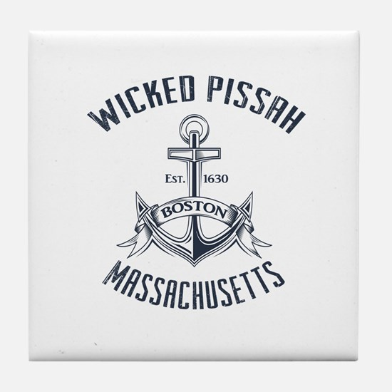 Wicked Pissah, Boston MA Tile Coaster
