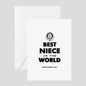 The Best in the World – Niece Greeting Cards