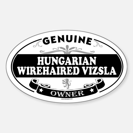 HUNGARIAN WIREHAIRED VIZSLA Oval Decal
