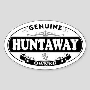 HUNTAWAY Oval Sticker