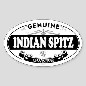 INDIAN SPITZ Oval Sticker