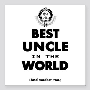 """The Best in the World – Square Car Magnet 3"""" x 3"""""""