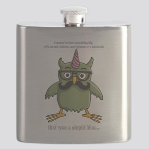 hipster nerd unicorn with mustache Flask