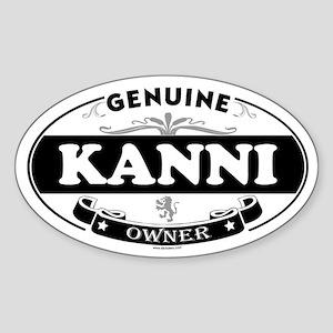 KANNI Oval Sticker