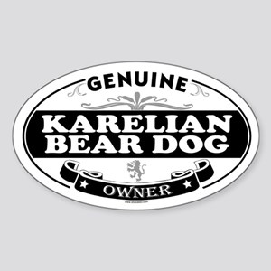 KARELIAN BEAR DOG Oval Sticker