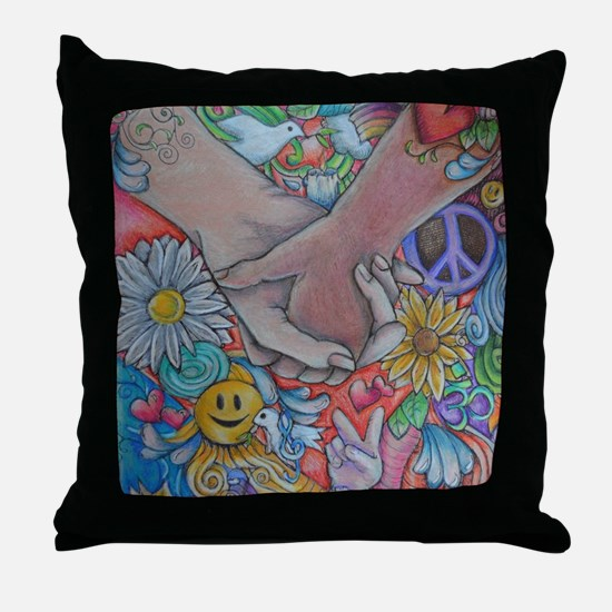 Choose Peace Throw Pillow