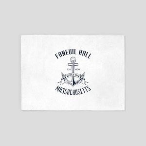 Faneuil Hall, Boston, MA 5'x7'Area Rug