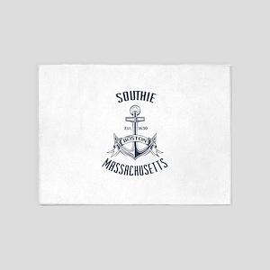 Southie, Boston MA 5'x7'Area Rug
