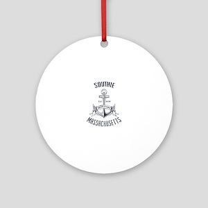 Southie, Boston MA Round Ornament