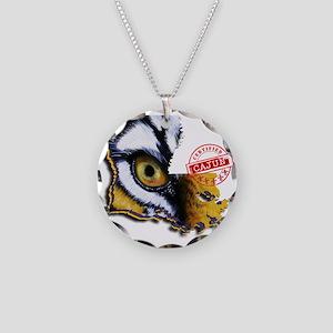 Certified Cajun Tiger Eye LA Necklace Circle Charm