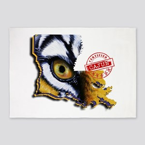 Certified Cajun Tiger Eye LA 5'x7'Area Rug