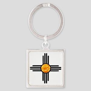 Zia Sun Sky Square Keychain