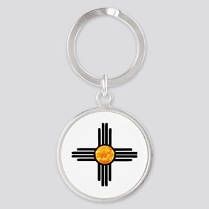 Zia Sun Sky Round Keychain