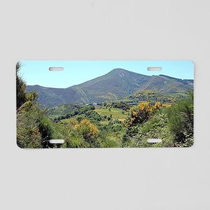 Mountains on El Camino near Aluminum License Plate