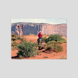 Monument Valley Horse & Rider, Utah 5'x7'Area Rug