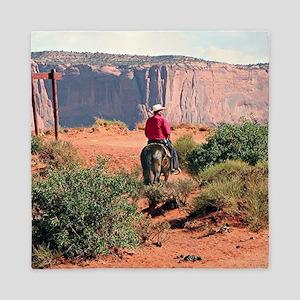 Monument Valley Horse & Rider, Utah, U Queen Duvet