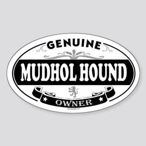 MUDHOL HOUND Oval Sticker