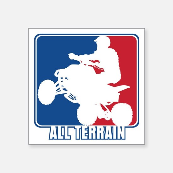 "Major League ATV Square Sticker 3"" x 3"""