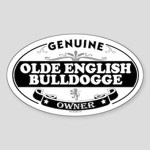 OLDE ENGLISH BULLDOGGE Oval Sticker