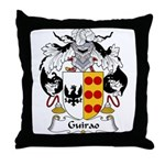 Guirao Family Crest Throw Pillow