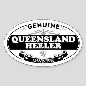 QUEENSLAND HEELER Oval Sticker