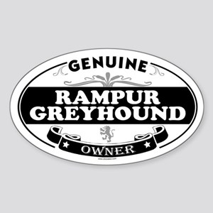RAMPUR GREYHOUND Oval Sticker
