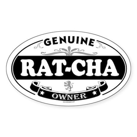 RAT-CHA Oval Sticker
