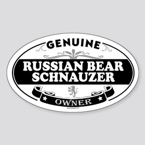 RUSSIAN BEAR SCHNAUZER Oval Sticker