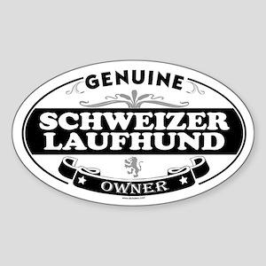SCHWEIZER LAUFHUND Oval Sticker