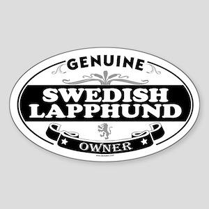 SWEDISH LAPPHUND Oval Sticker