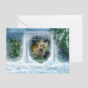"""Schnauzer Christmas"" Greeting Card"