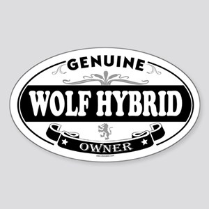 WOLF HYBRID Oval Sticker