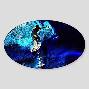 beach blue waves surfer Sticker