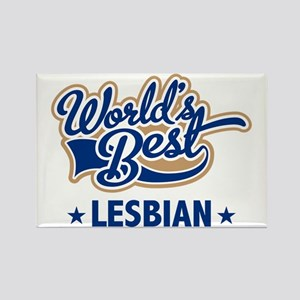 World's Best Lesbian Rectangle Magnet
