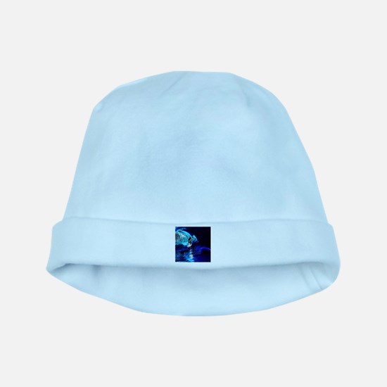beach blue waves surfer baby hat