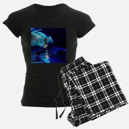 beach blue waves surfer Pajamas