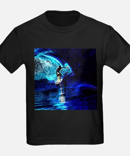 beach blue waves surfer T-Shirt