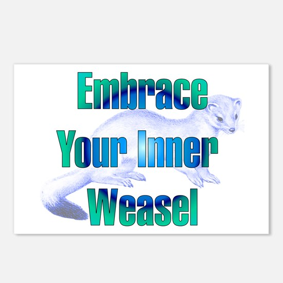 Embrace Your Inner Weasel Postcards (Package of 8)