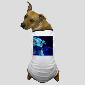 beach blue waves surfer Dog T-Shirt
