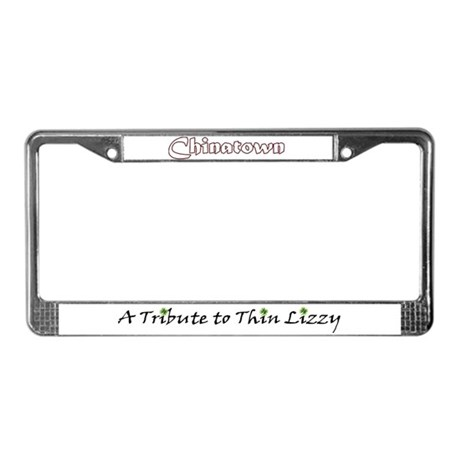 Chinatown License Plate Frame