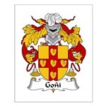 Goni Family Crest Small Poster