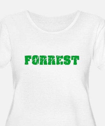 Forrest Name Weathered Green Des Plus Size T-Shirt