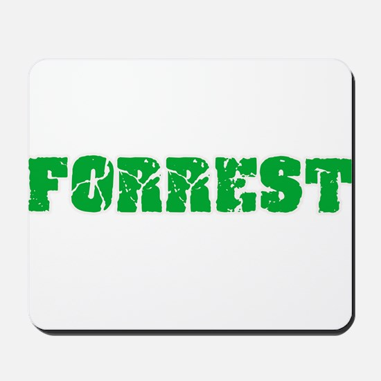 Forrest Name Weathered Green Design Mousepad