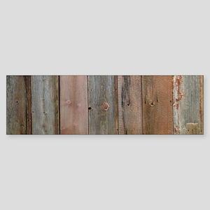 rustic western barn wood Bumper Sticker