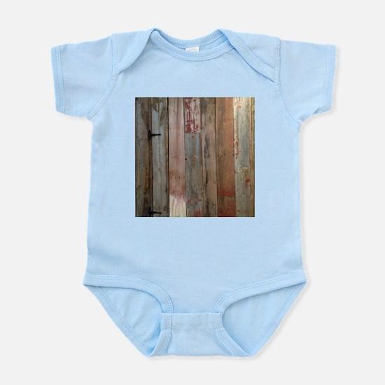 rustic western barn wood Body Suit