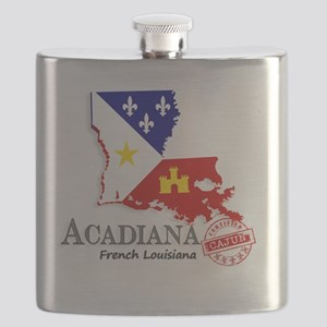 Acadiana French Louisiana Cajun Flask